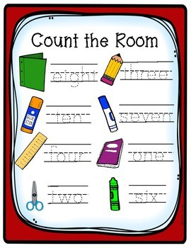 Count The Room - Back To School and School Supplies - Differentiated