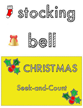 Count The Room | Christmas Counting Cards | Preschool | Tot School | Pre-K