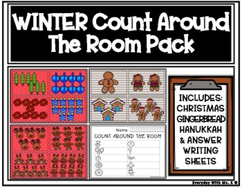 Count The Room: Christmas, Hanukkah, Reindeer, Gingerbread Pack