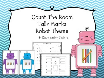 Count The Room Tally Marks -Robot Theme