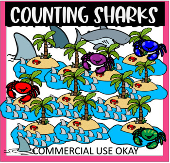 Count The Sharks Number Set