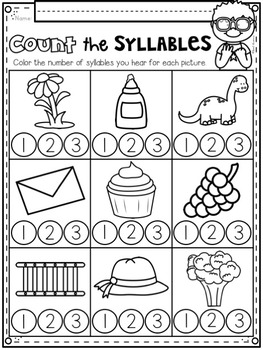Syllable Counts! Introductory Phonics and Pre-reading Skills for Kindergarten