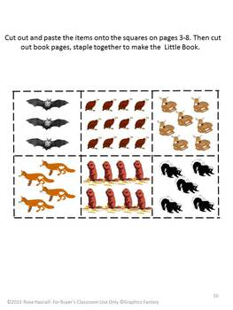 Animals Count the Wild Life Cut and Paste Little Book Fine Motor Skills