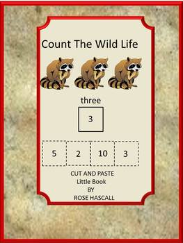 Animals Count the Wild Life Cut and Paste Little Book