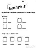 Count Them Up - Unifix Cube Math Center Activity