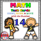 Number Sense Activity - Math Task Cards - Count, Think & Move with 14