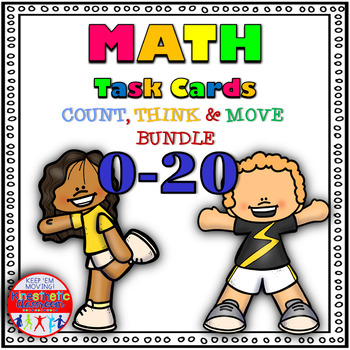 Number Sense Activities -  Math Task Cards - Count, Think