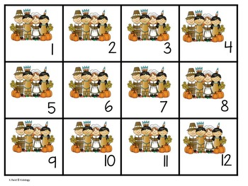 Count To 20 - Counting and Numbers Activity - Thanksgiving