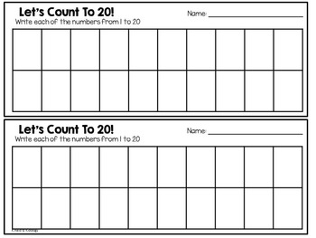 Count To 20 - Counting and Numbers Activity and Center