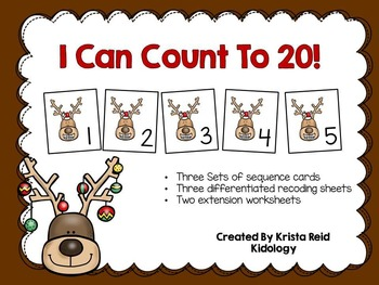 Count To 20 - Numbers and Counting Center, Activity and Game