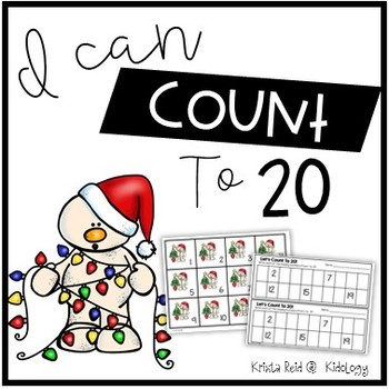 Count To 20 - Snowmen - Numbers and Counting Center Activity
