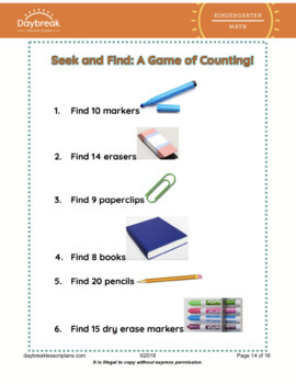 Kindergarten Math | Count To Answer How Many