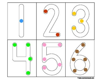 Count Touch: numbers 1-9