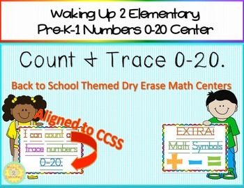 Count & Trace 0-20 Math Centers {Dry Erase}