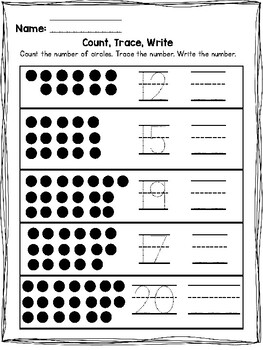 Count, Trace, Write! Numbers to 20