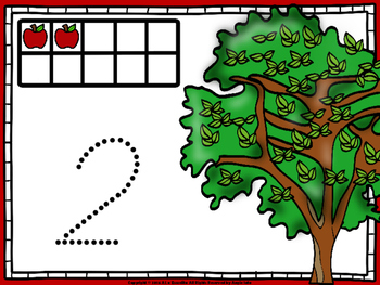 Count, Trace, and Shape Apples Freebie
