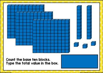 Count & Type Base Ten Blocks Boom Cards