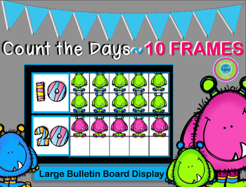 Count Up the Days~Ten Frames (Days 1-180) Bulletin Board Display