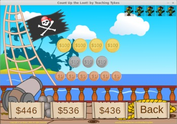 Count Up the Loot! Place Value Game