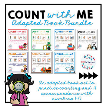 Count With Me: Adapted Book BUNDLE!