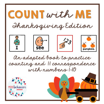 Count With Me: Thanksgiving Adapted Book