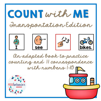 Count With Me: Transportation Adapted Book