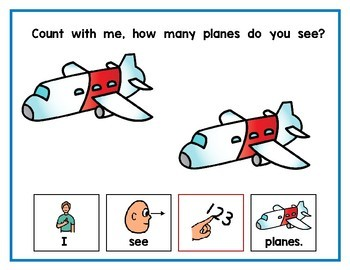 Count With Me | Transportation Adapted Book | Counting Book