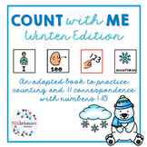 Count With Me   Winter Adapted Book   Counting Book