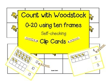 Count With Woodstock 0-20 Clip Cards