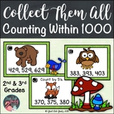 Count Within 1000 Forest Animals Task Card Activity