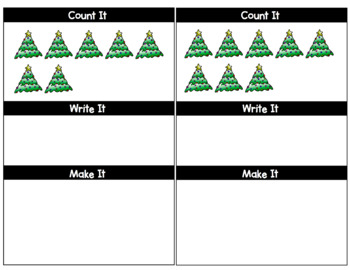 Count, Write, Make: Christmas Counting Activity