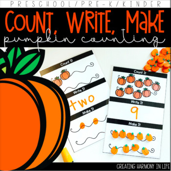 Count, Write, Make: Pumpkin Patch Counting Activity