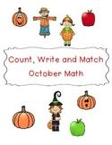 Count, Write, Match October Math