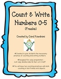 Count & Write Numbers 0 - 5