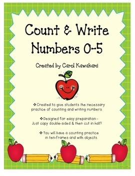 Count & Write Numbers 0-5 set