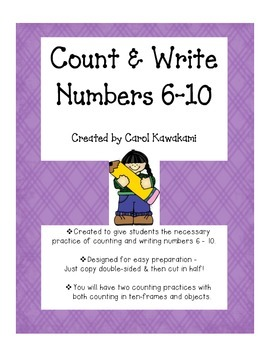 Count & Write Numbers 6 - 10