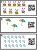 Count, Write, Scan Task Cards 1-20  Spring