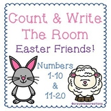 Count & Write The Room Easter Friends 1-20