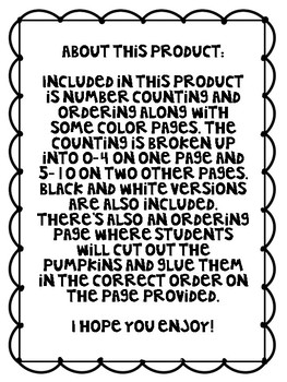 Count, Write and Color It!