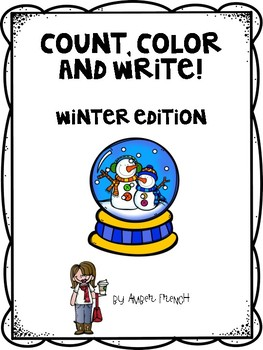 Count, Write and Color It! Winter Edition