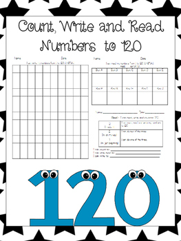 Count, Write and Read Numbers to 120 First Grade Progress Monitoring