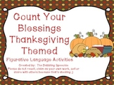 Count Your Blessings Thankgiving Themed Figurative Languag