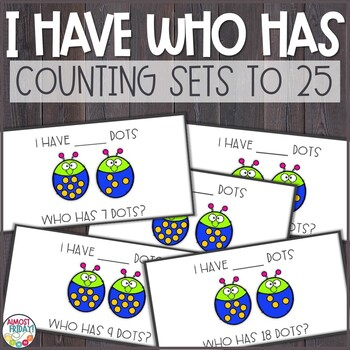 Count and Add Dots I Have Who Has Game
