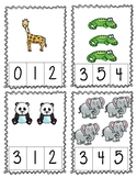 Count and Clip 1-10 (Zoo)