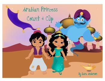 Count and Clip Arabian Princess