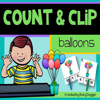 Count and Clip - Balloons