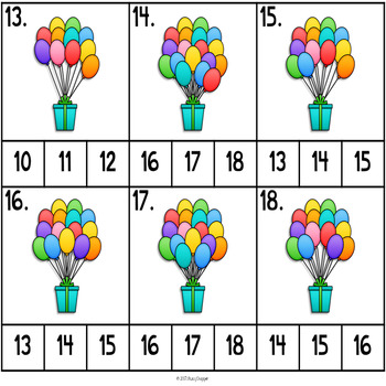 Count and Clip Balloons
