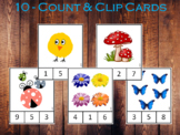Count and Clip Cards (1-10) Printable, Toddler Number Flas