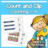 Count and Clip Cards - Counting 1-10