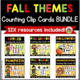 Fall Count and Clip Cards Bundle for Preschool